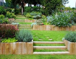 amenager un jardin en pente gt les meilleurs conseils With amenagement d un jardin en pente