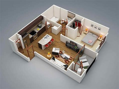 One Bedroom Apartment Plans For Singles And Couples