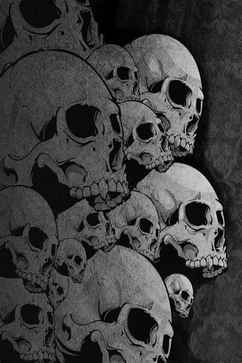 skull iphone wallpaper  darken   phone screen news share