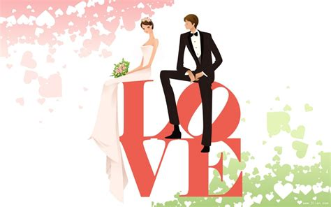 浪漫卡通婚礼图片-婚礼图片大全