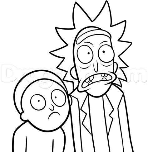 rick  morty coloring coloring pages