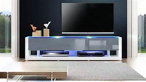 Meuble Tv Blanc Gris Laqu Meuble Tv Blanc Moderne