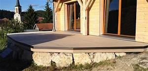 a quelle periode poser sa terrasse en bois composite With pente terrasse bois composite