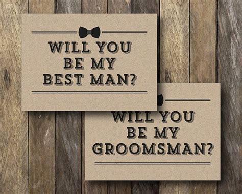 printable groomsman card      man