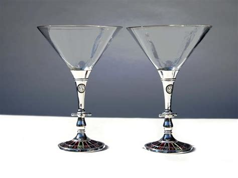 Casino Roulette Wheel Martini Glasses Godinger Silver Art