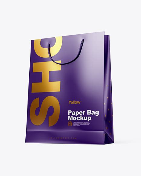 But before you invest in printing hundreds or thousands of bags, it's helpful to use a select this brown paper bag mockup template if you want to show your label designs in a natural, organic way. Glossy Paper Shopping Bag PSD Mockup Half Side View Hero ...