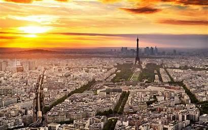 Paris 4k French Sunset Landmarks Tower Eiffel