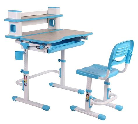 reo smart height adjustable children desk and chair