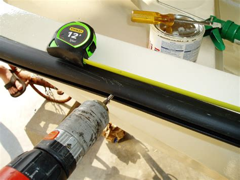 Caulk For Boat Rub Rail by Installing A New Rub Rail Bumper Rail On A Boston Whaler