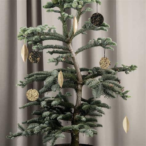 leaf brass ornaments set    ferm living
