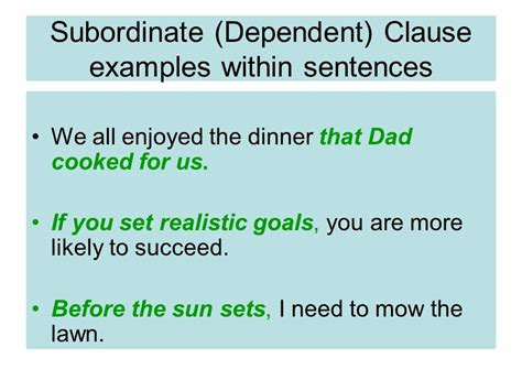Examples Of Subordinating Sentences Pictures To Pin On