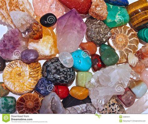 le si鑒e de minerals crystals and semi precious stones stock image image 53981811