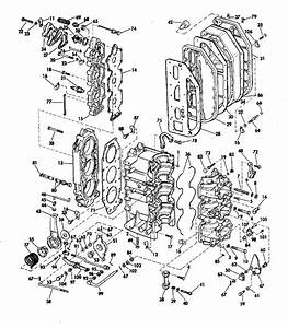 Johnson Cylinder And Crankcase Parts For 1974 70hp