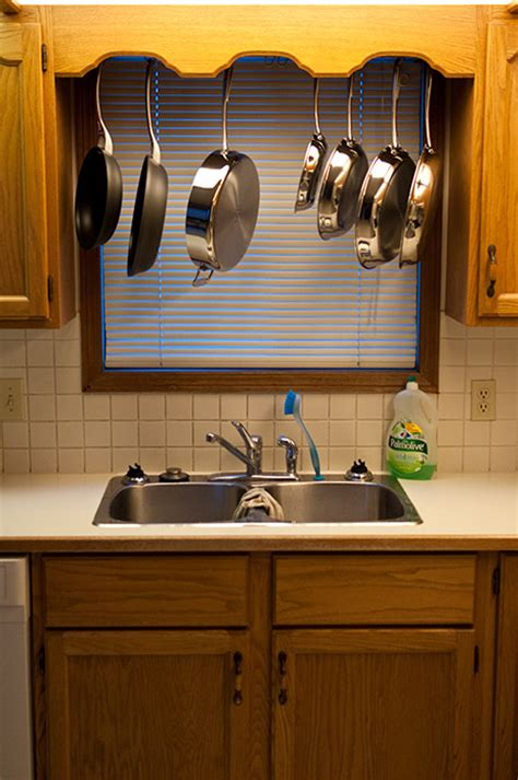 pots and pans rack cabinet how to build a pots and pans rack cheaply that spans