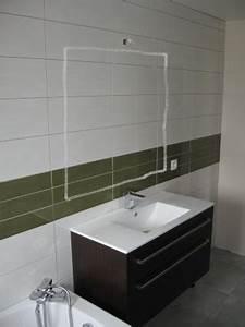 hauteur miroir salle de bains With hauteur d un miroir de salle de bain