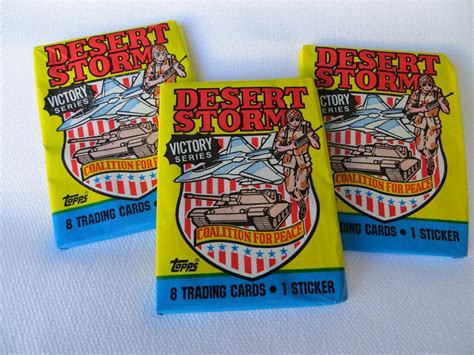 Trading card producer topps company inc. Desert Storm Trading Cards
