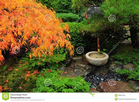 Japanese Garden Decoration by Japanese Garden Decoration Royalty Free Stock Photos