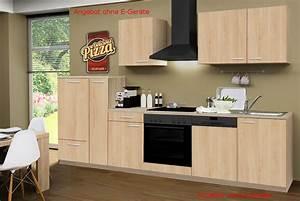 Küchenzeile 310 Cm : k chenzeile g teborg k chen leerblock breite 310 cm eiche sonoma k che k chenzeilen ~ Indierocktalk.com Haus und Dekorationen