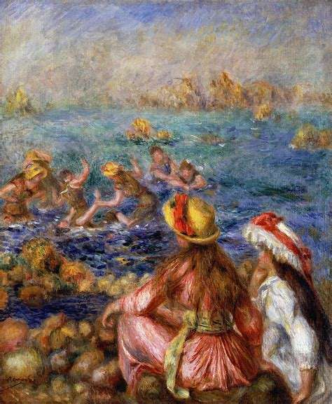 The Bathers Painting By Pierre Auguste Renoir