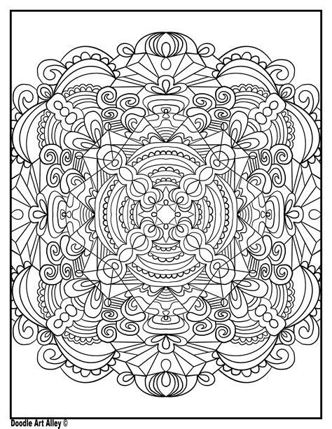 symmetry coloring pages doodle art alley