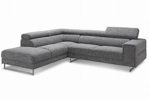 Canapé Angle Gris Chiné : canap d 39 angle gauche gris chin en tissu zion design sur sofactory ~ Teatrodelosmanantiales.com Idées de Décoration