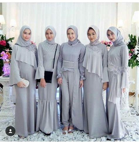 Wanita Dewasa 46 Model Baju Muslim Pesta Modern Brokat Terbaru 2018