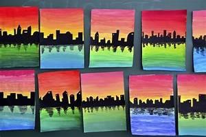 Warme Und Kalte Farben : skyline on color gradations kalte farben farben und schule ~ Markanthonyermac.com Haus und Dekorationen