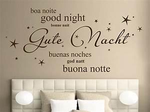 Wandtattoo Gute Nacht In 7 Sprachen