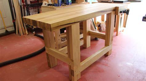 build  sturdy woodworking workbench youtube
