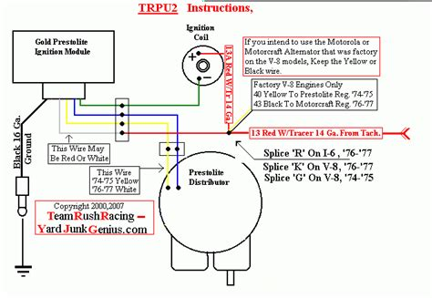 prestolite distributor wiring diagram the patient is a 77 cj 7 with the 258 6cyl motor and prestolite ignition has the cadmium