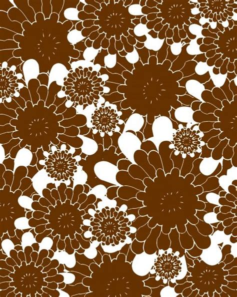 Brown & White Flower Outlines Free Stock Photo Public