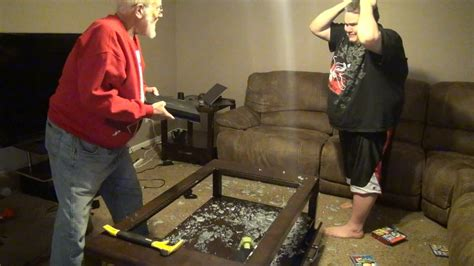angry grandpa destroys ps youtube