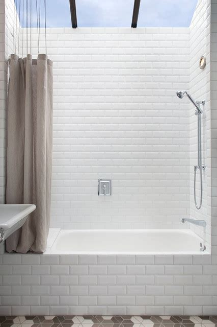 palo alto guest cottage tub shower transitional bathroom san francisco by reilly