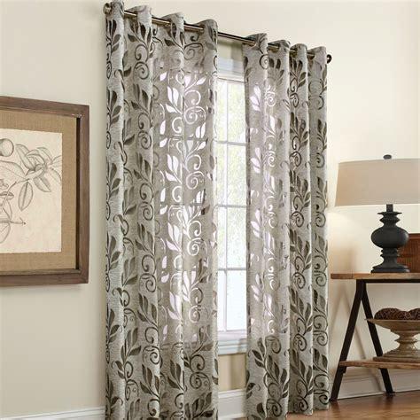 amelia linen burnout grommet curtain panels