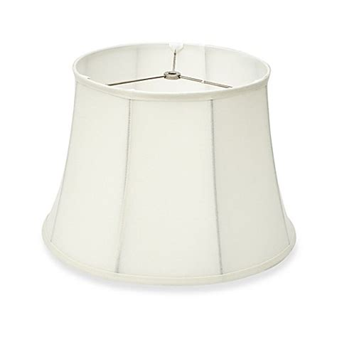 l shades bed bath and beyond buy trimmed linen bell l shade in from bed bath