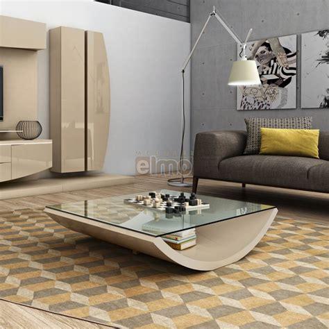 table ronde cuisine table basse design moderne laque brillante plateau verre elisa