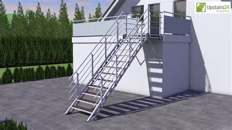 escalier ext 233 rieur en kit wpc re sur deux c 244 t 233 s upstairs24