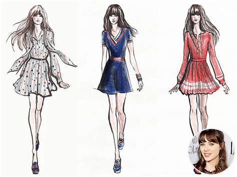 design a clothing line zooey deschanel launches new fashion line with