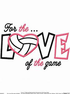 For, The, Love, Of, The, Game, Volleyball, Applique