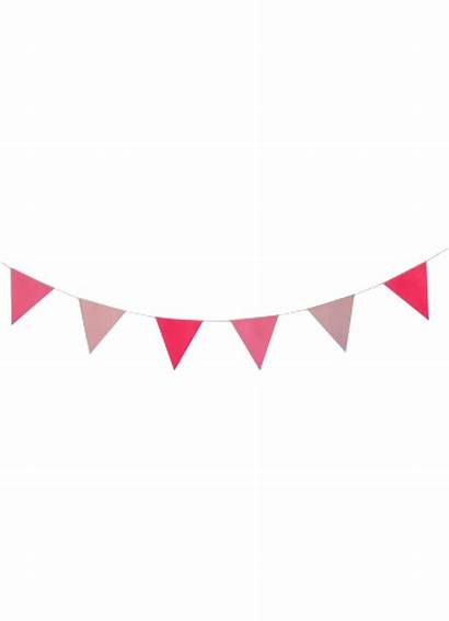Party Transparent Pink Garland Birthday Clipart Clip