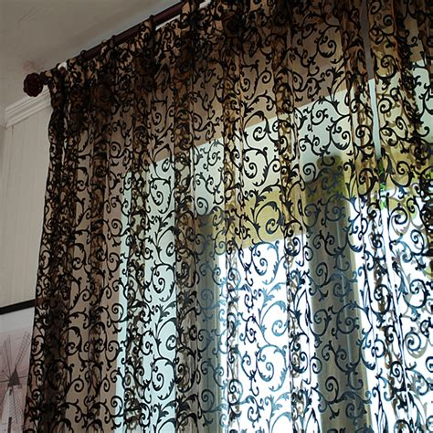 buy wholesale black flock curtains from china black