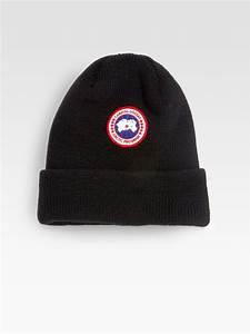 74fdbe194d0 Lyst Canada Goose Merino Wool Watch Cap in Black