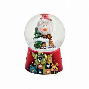 Boule à Neige : boule neige bonhomme de neige sapin 6 cm r sine la magie des automates ~ Teatrodelosmanantiales.com Idées de Décoration