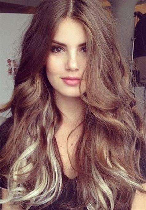 cute brown hair color ideas  womens  ponytail