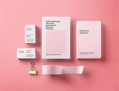 One fully layered psd file with. Stationery Branding Mockup Free PSD | Free Mockup