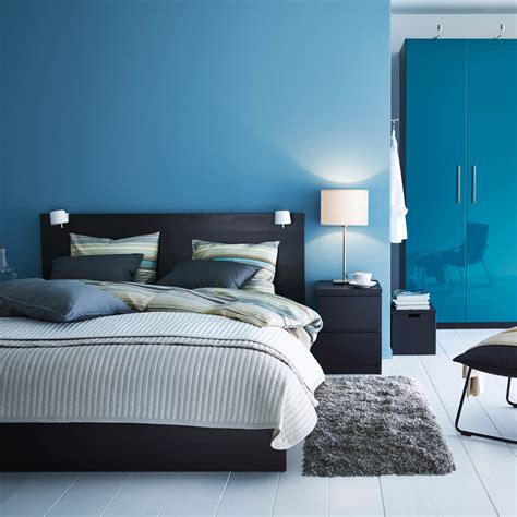 chambre ikea malm unwind in warm brown and cool blue