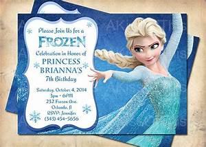 Frozen Birthday Invitation Princess Elsa Frozen by ...