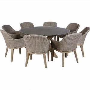 Table De Jardin Aluminium Et Verre : table duba ronde 8 personnes aluminium et verre hesp ride ~ Teatrodelosmanantiales.com Idées de Décoration