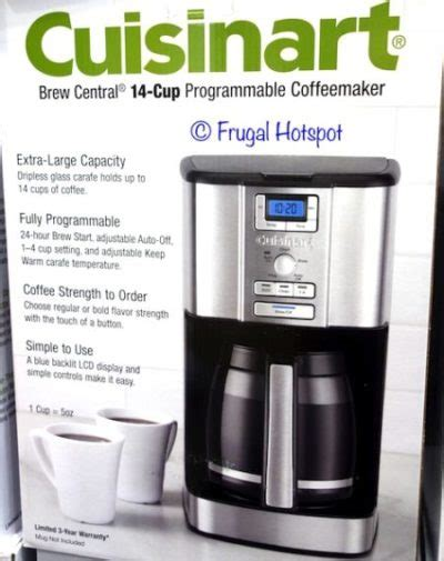 The perfectemp coffee maker delivers coffee hot enough to stand up to the richest creamer. Cuisinart 14 Cup Coffee Maker User Manual - Image of Coffee and Tea