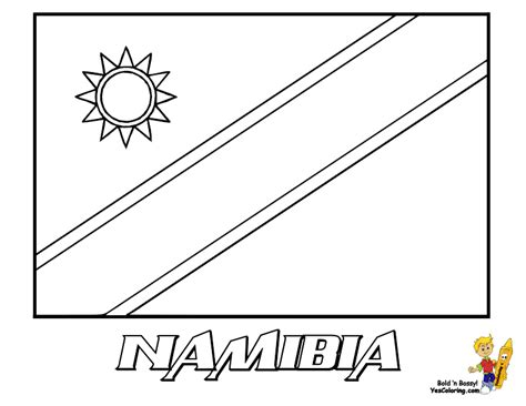 namibia flag coloring pages
